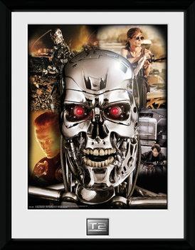 Terminator 2 - Collage ingelijste poster met glas
