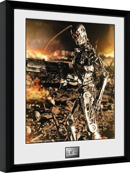 Terminator 2 - Endo ingelijste poster met glas