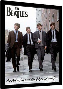 Ingelijste poster The Beatles - On Air 2013