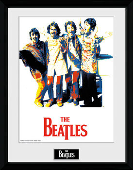 The Beatles - Psychedlic ingelijste poster met glas