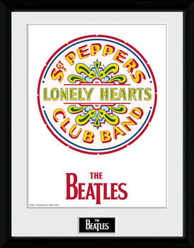 The Beatles - Sgt Pepper ingelijste poster met glas