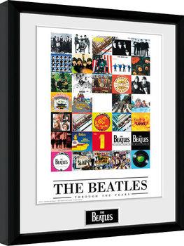 Ingelijste poster The Beatles - Through The Years