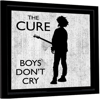 Ingelijste poster The Cure - Boys Don't Cry