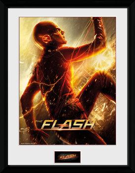 The Flash - Run ingelijste poster met glas