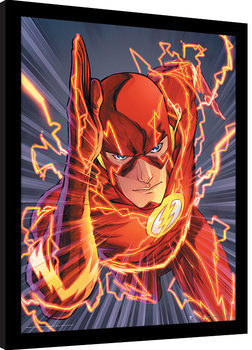Ingelijste poster The Flash - Zoom