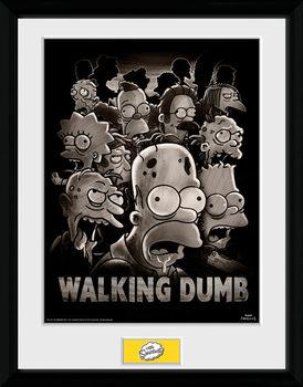 The Simpsons - The Walking Dumb ingelijste poster met glas