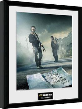 Ingelijste poster The Walking Dead - Season 5