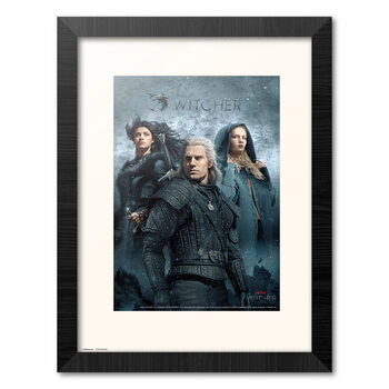 Ingelijste poster The Witcher - Characters