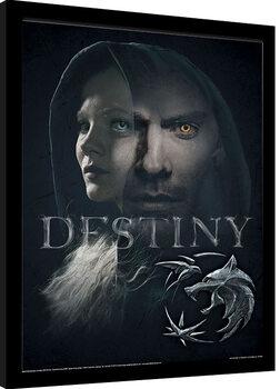 Ingelijste poster The Witcher - Destiny