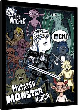 Ingelijste poster The Witcher - Mutated Monster Hunter