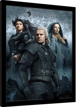 Ingelijste poster The Witcher - That Which You Can't Outrun