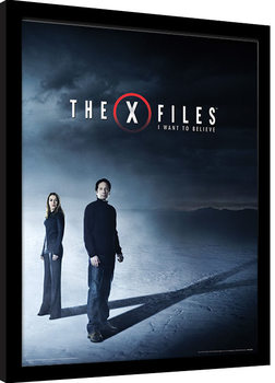Ingelijste poster The X-Files - I Want to Believe