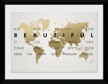 Travel ingelijste poster met glas