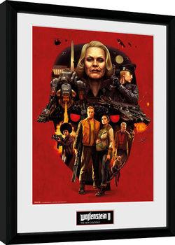 Ingelijste poster Wolfenstein - Face of Death