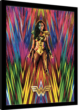 Ingelijste poster Wonder Woman 1984 - Neon Static