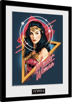 Ingelijste poster Wonder Woman 1984 - Retro