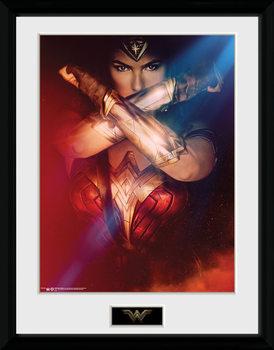 Wonder Woman - Cross ingelijste poster met glas