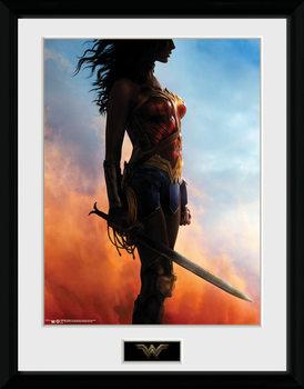 Wonder Woman - Stand ingelijste poster met glas