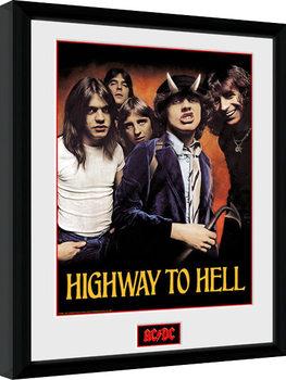 Innrammet plakat AC/DC - Highway to Hell