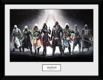 Innrammet plakat Assassins Creed - Characters