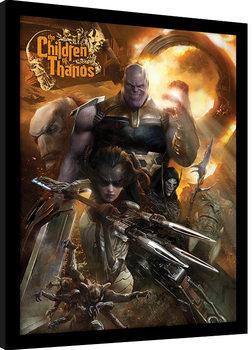 Innrammet plakat Avengers Infinity War - Children of Thanos