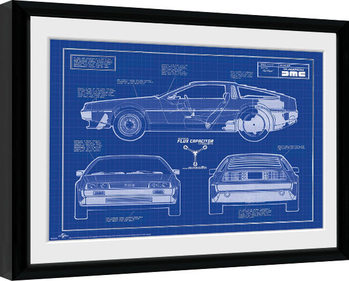 Innrammet plakat Back To The Future - Blueprint
