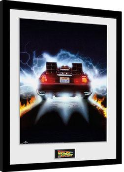 Innrammet plakat Back To The Future - Delorean