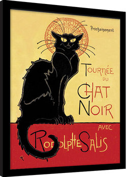 Innrammet plakat Chat Noir
