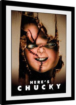 Innrammet plakat Chucky - Here's Chucky