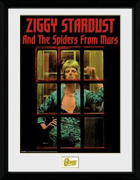 Innrammet plakat David Bowie - Ziggy Stardust