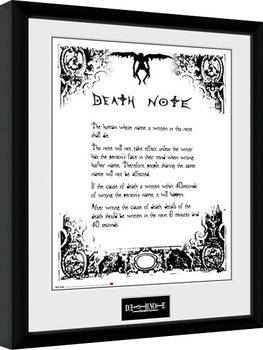 Innrammet plakat Death Note - Death Note