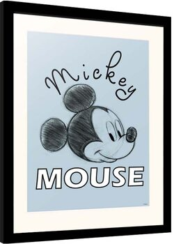 Innrammet plakat Disney - Mickey Mouse