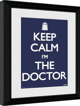 Innrammet plakat Doctor Who - Keep Calm