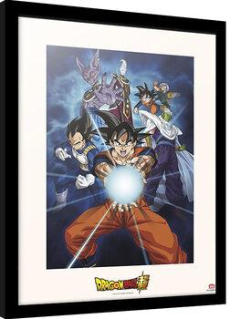 Innrammet plakat Dragon Ball - Kamehameha