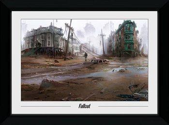 Innrammet plakat Fallout - North End