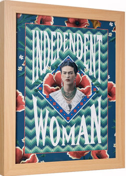 Innrammet plakat Frida Kahlo - Independent Woman