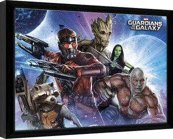 Innrammet plakat Guardians Of The Galaxy - Team