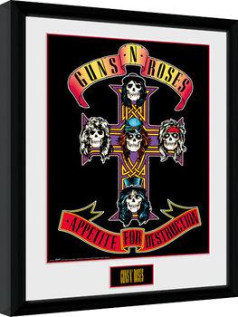 Innrammet plakat Guns N Roses - Appetite