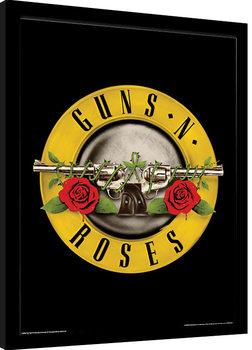 Innrammet plakat Guns N Roses - Bullet Logo