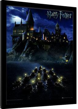 Innrammet plakat Harry Potter - Hogwarts School