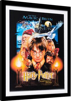 Innrammet plakat Harry Potter - The Sorcerer's Stone