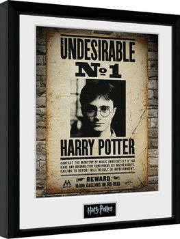 Innrammet plakat Harry Potter - Undesirable No 1