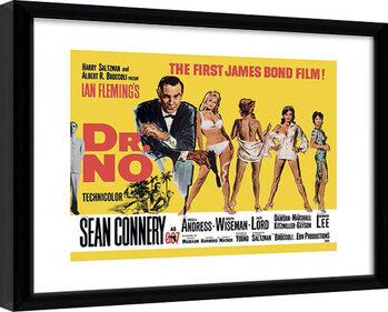 Innrammet plakat James Bond - Doctor No Yellow