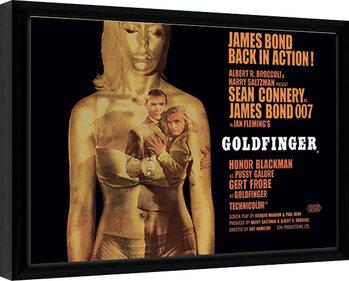 Innrammet plakat James Bond - Goldfinger - Projection