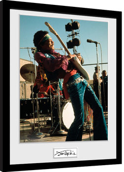 Innrammet plakat Jimi Hendrix - Live