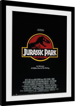 Innrammet plakat Jurassic Park - Key Art