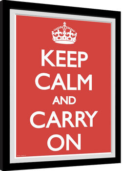 Innrammet plakat Keep Calm And Carry On