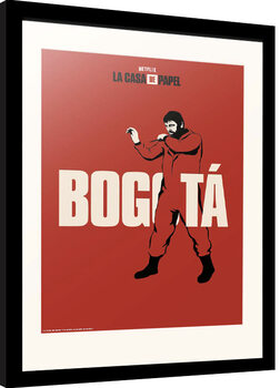 Innrammet plakat La Casa De Papel - Bogota