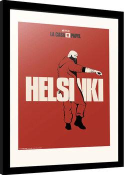 Innrammet plakat La Casa De Papel - Helsinki