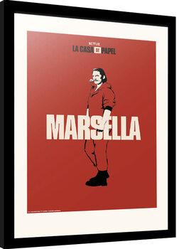 Innrammet plakat La Casa De Papel - Marsella